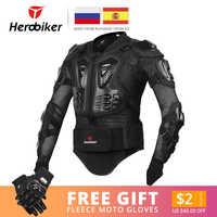 HEROBIKER Uomini Giacca Moto Full Body Armatura Del Motociclo Motocross Moto Da Corsa Giacca Moto A Cavallo di Protezione Formato S-5XL #