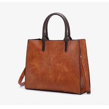 купить New Women Bag Vintage Handbag Casual Tote Fashion 2019 Female PU Leather Big Capacity Crossbody Bag Bolsa Feminina Black Red по цене 1149.69 рублей