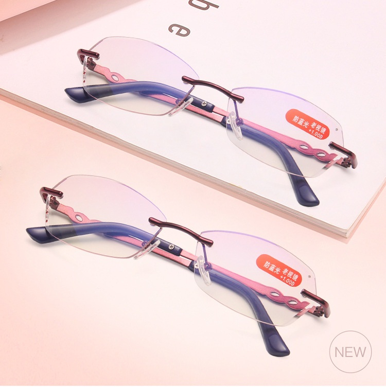 Женские очки для чтения без оправы lonsy с диоптриями защитой