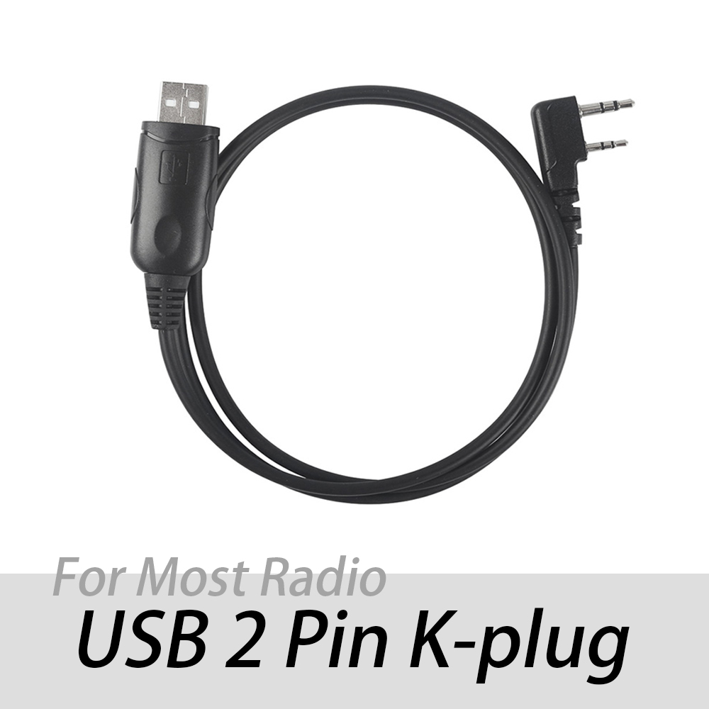 Programming Cable 2 Pins K Port For Baofeng GT-3 DMR UV-82 UV-5R DM-5R 888S TYT Win10 Win8 Win7 XP Support USB Ham Two-way Radio
