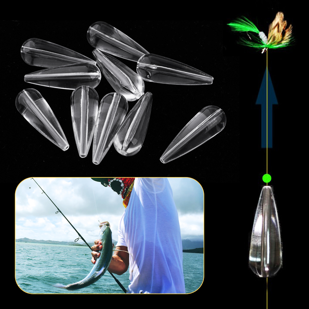 10 Pcs Fishing Floating  Acrylic Bombarda Floats Sinking Sbirolino Spinning Bombarda Trout Pose Floats Casting Lure Baits 3.5g