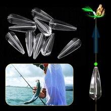 10 pcs Fishing Floating  Acrylic Bombarda Floats Sinking Sbirolino Spinning Trout Pose 3.5g