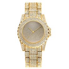 Luxury Simple quartz watches alloy strap fashion Clock women's watch steel belt diamond lady watch womens watches Ladies gift(China)