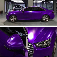 152CM*3M Car Stickers Car Vinyl Wrap Film Sticker Purple Decal Bubble Free Car Wrapping Films