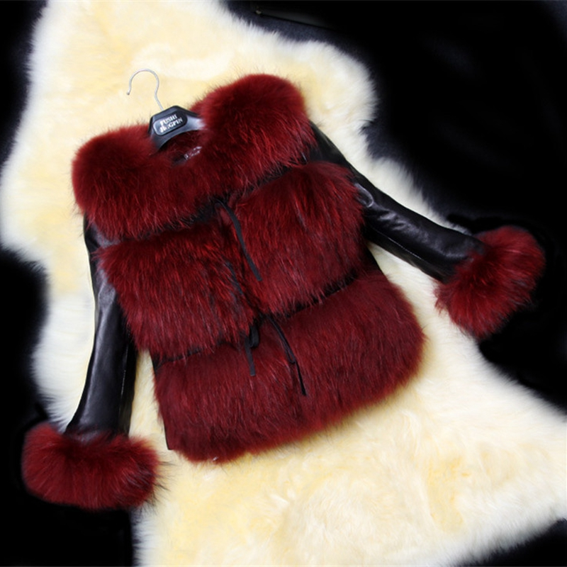 New Winter Women Fur Coats Thicken Faux Leather Fur Female Slim Coat Fur Lining Leather Jacket Aviator Jacket Plus Size Casual