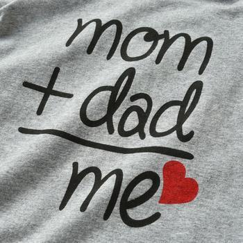 Mom+Dad=Me Baby's Gray Cotton Romper 3