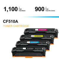 4PK 1SET CF510/511/512/513A Color Toner Cartridge Compatible for LaserJet M254DW 254 M281FDN M281 M280 Printer