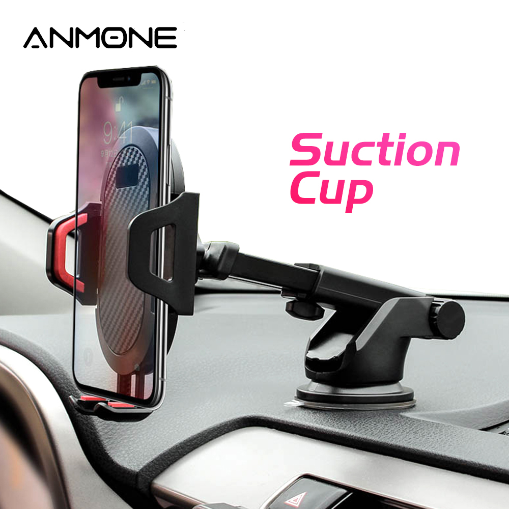 ANMONE 360 Mount in Car Stand No Magnetic Suction Cup Car Phone Holder In Car Support Mobile Cell Cellphone Smartphone|Phone Holders & Stands| |  - title=