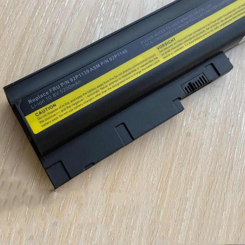 5200mAh bateria do IBM Lenovo ThinkPad R60 R60e R61 R61e R61i T60 T60p T61 T61p R500 T500 W500 SL400 SL500 SL300 darmowa wysyłka