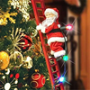 Funny Christmas Santa Claus Electric Climb Ladder Hanging Decoration Christmas Tree Ornaments Party Kids Gifts