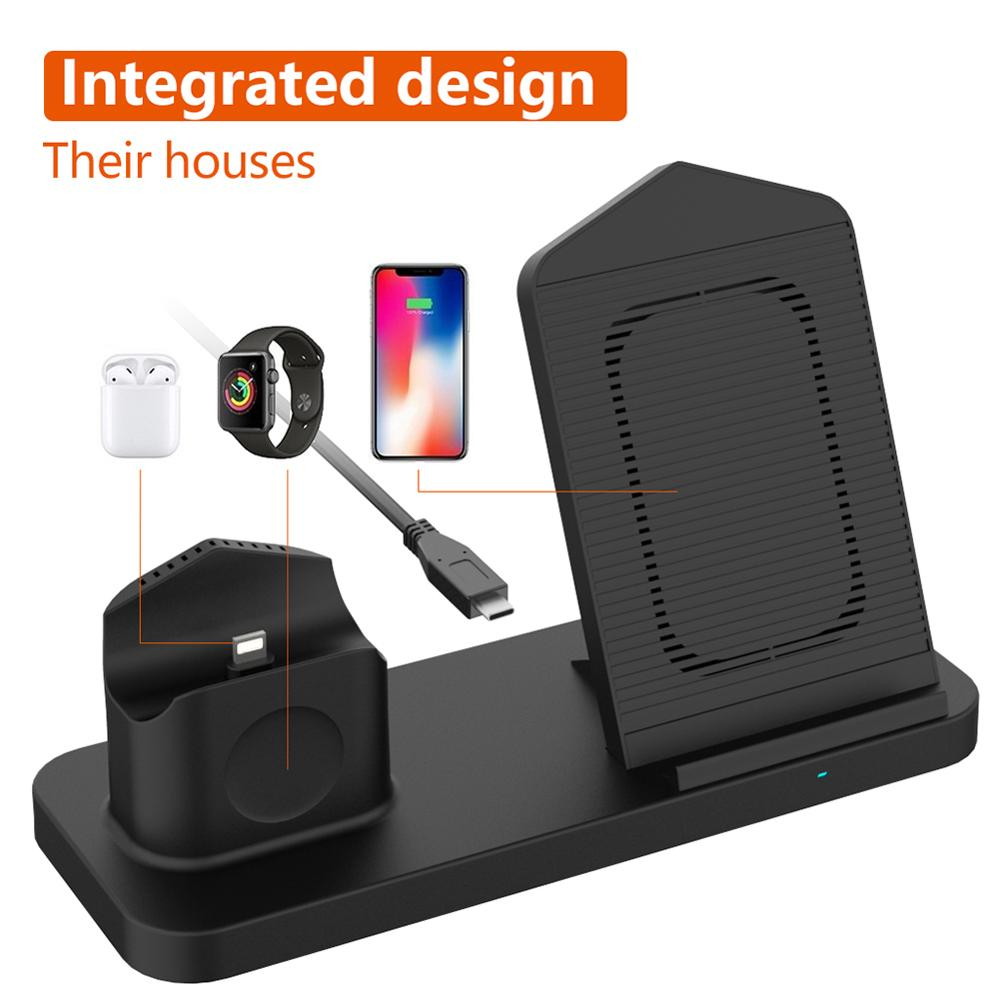 Image 4 - Goldfox 10W Fast Wireless Charger for iphone Samsung Qi wireless Charging stand for Airpods apple watch 4 3 2 1 charger holder-in Wireless Chargers from Cellphones & Telecommunications