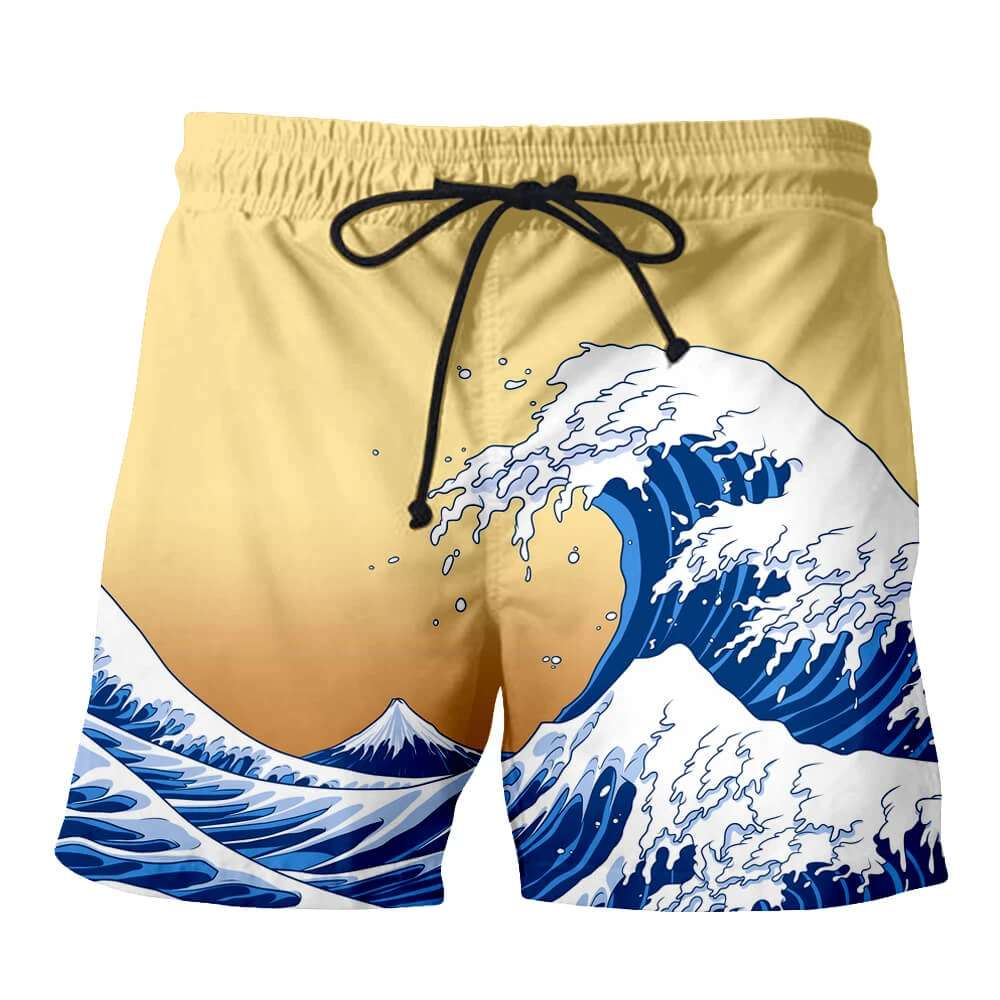 Plstar Cosmos Men Summer 3D Print Short Swimming Short Pant Fashion Cartoon Design Beach Short