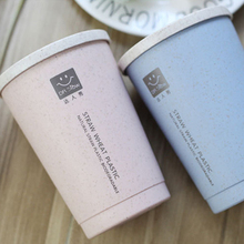 Coffee-Cup Straw Travel-Mug Cold-Water-Drinks-Cup Double-Wall Insulation Leakproof 280ML