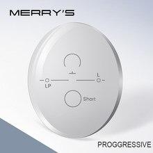 MERRYS 1.56 1.61 1.67 Progressive Multifocal Lenses Bifocal Prescription Myopia Hyperopia Resistance Short Middle Far Lens