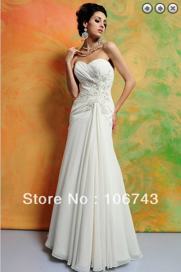 Free Shipping 2016 Pageant Dresses For Women Bridal Gown Vestidos Formales White Long Dress Plus Size Concise Bridesmaid Dresses