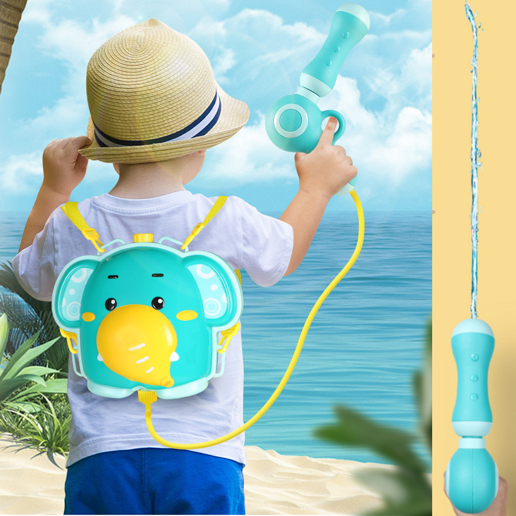 2020 Funny Beach Nozzle Backpack Tank Set Kids Squirt Toy Children Cartoon Outdoor Water Toy WaterGun Toys Beach Sand Water Toys