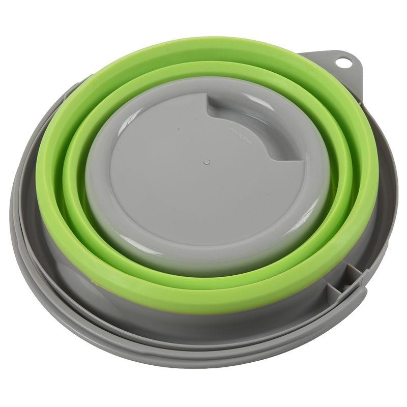 접이식 접이식 팝업 5L 버킷 뚜껑 그린 캠핑 새로운 색상: 녹색