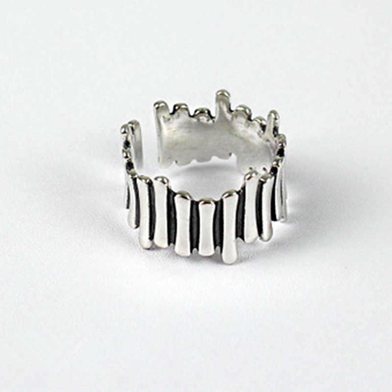 Foxanry Creatieve 925 Sterling Zilveren Ringen Voor Vrouwen Koppels Vintage Onregelmatige Handgemaakte Anillos Sieraden Party Accessoires Geschenken