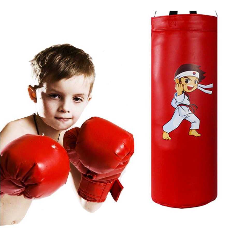 PU Children Boxing Punching Bag Set Kids Sanda Vertical Hanging sandbag Tumbler Household Training Equipment boys baby toys Gift