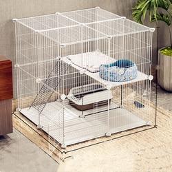 Клетка для кошек, домашняя, двойная, для домашних животных, вилла, пустой дом, большой, трехслойный, маленький
