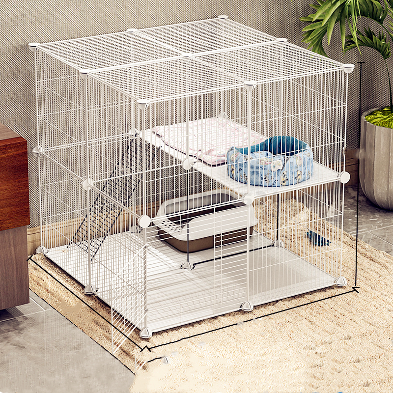 Cat Cage Home Indoor Double Pet   Villa Clearance Empty  House Large Three-layer  Litter Small