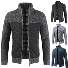 Casual Men Pullovers Knitted Top Soft Pullovers Knitted Top Autumn Zip Thick Knitted Sweater Pockets Warm Slim Cardigan Coat Top