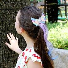Hair-Accessories Wig Unicorn Barrettes Glitter Hair-Bows/clips Girls Kids Children Ncmama