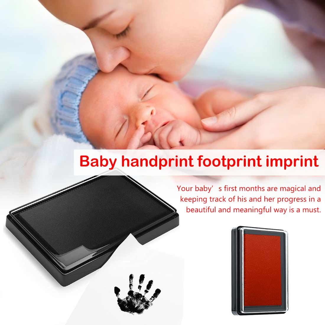 Baby Care Non-Toxic Baby Handprint Footprint Imprint Kit Baby Souvenirs Casting Newborn Footprint Ink Pad Infant Clay Toy