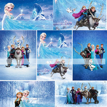 Christmas Photography Backgrounds Frozen Ice Queen Princess Elsa Children Baby Photo Backdrop Photocall Backdrop Photo Studio(China)