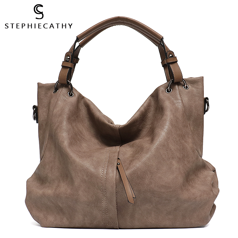 SC Big Casual Soft Tote Shoulder Bags For Women Large Vegan Leather Zipper Female Hobo High Quality Luxury Design Purses&Handbag