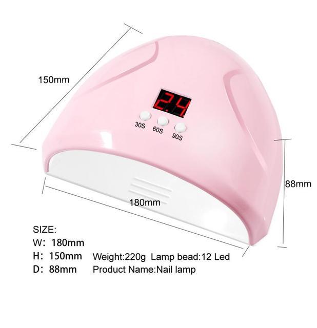 LED tırnak kurutucu UV tırnak lambası oje jel manikür makinesi kür UV jel otomatik algılama ile lcd ekran tırnak sanat araçları
