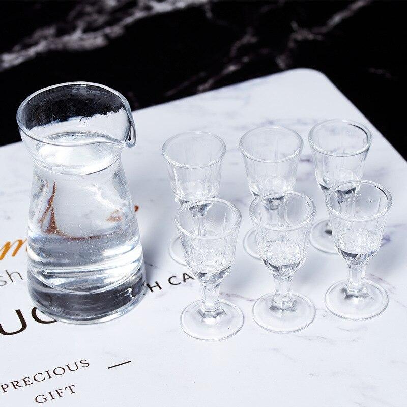 Kleine Geist Glas Schnaps Teiler Set Haushalt Chinesischen Stil Tass moutai bei Shooter Glas 10ml Kleine Wein Tasse