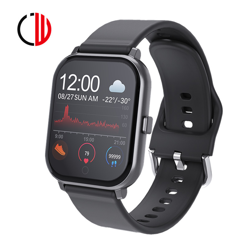 CZJW T55 Bluetooth Smart Watch Man Android Ios Ftness Tracker Heart Rate Muti-watch Faces Waterproof Pk MKS5 P8 B57 New 2020