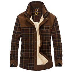 Mooie Tij Winter Warm Militaire Shirt Mannen Merk Casual Lange Mouwen Katoenen Fleece Betaald Shirt Dikke Linnen Shirts Mannen Camisa hombre