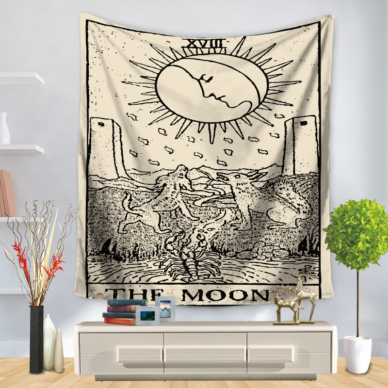 Image 3 - Tarot Card Tapestry Wall Hanging Astrology Divination Bedspread Beach Mat Decorative TapestryTapestry