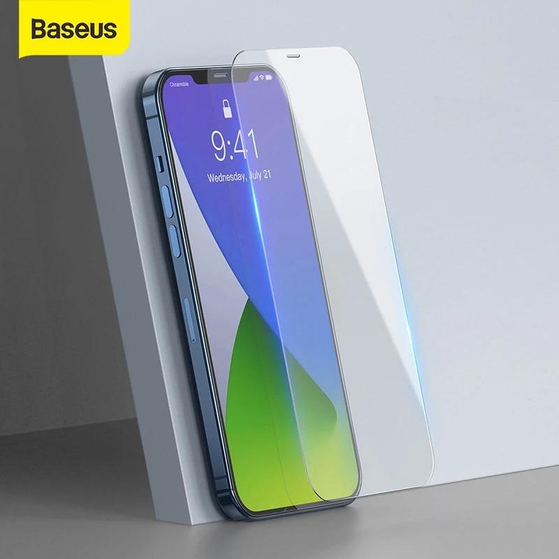 Baseus 2PCS Protezione Dello Schermo Per il iPhone 12 Pro Max 0.3 millimetri di Vetro Temperato Per il iPhone 12Pro Max 12 mini sottile Della Copertura di Vetro di Protezione