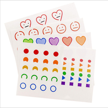 40packs/lot Creative Mini Funny And Cool Cartoon Face Smiley Tattoo Merry Christmas Stickers For Party Stickers For The Diary