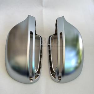 Image 2 - BODENLA matowe chromowane lustrzane osłony lusterko wsteczne boczne Cap S linia zmiana pasa dla Audi A4 B8 A5 8T A6 C6 Q3 A3 8P