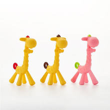 Baby baby zähne schleifen stange baby giraffen zahn gum alle silikon gummi spielzeug kugel