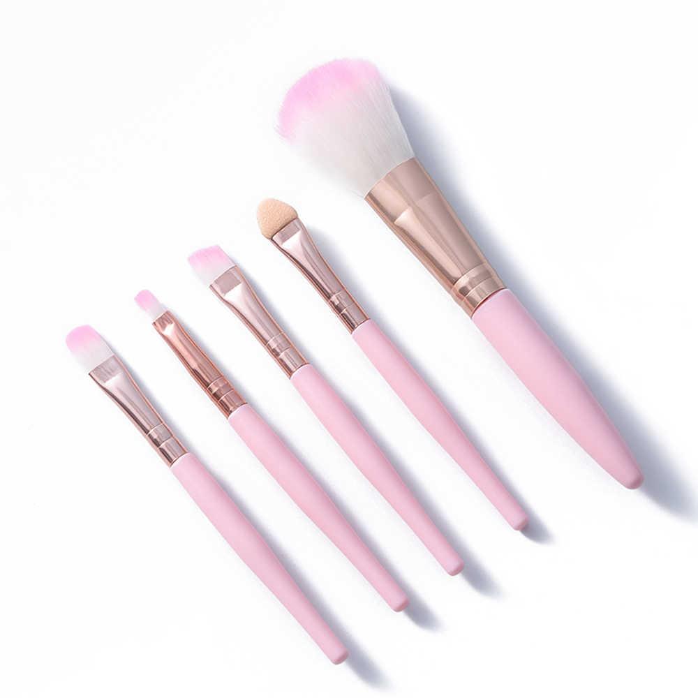Profesional 5/1Pcs Makeup Brushes Set Eye Shadow Foundation Bubuk Eyeliner Bibir Make Up Kuas Kosmetik Wanita Makeup alat