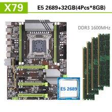 Kllisre X79 motherboard set mit Xeon E5 2689 4x8GB = 32GB 1600MHz DDR3 ECC REG speicher ATX USB 3,0 SATA3 PCI E NVME M.2 SSD
