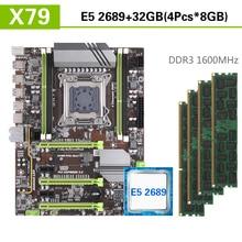 Kllisre X79 motherboard set with Xeon E5 2689 4x8GB=32GB 1600MHz DDR3 ECC REG memory ATX USB3.0 SATA3 PCI E NVME M.2 SSD