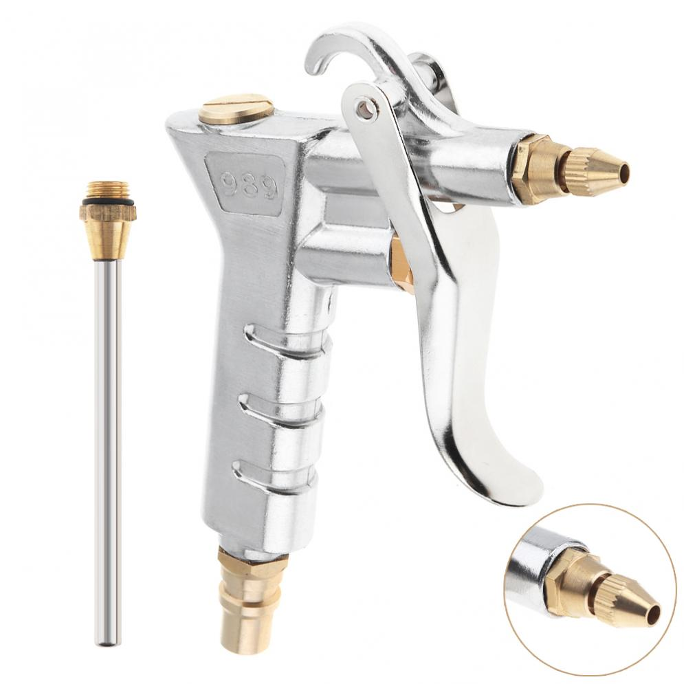 Spray Gun Mini Pneumatic Blowing Dust Gun Tool With 7.5mm Air Inlet Port And 10cm Replacement Long Nozzle For Cleaning Dust