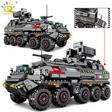 Huiqibao cidade filme vagando terra carros caminhões blocos de construção tanque militar veículo soldados figuras tijolos brinquedos crianças