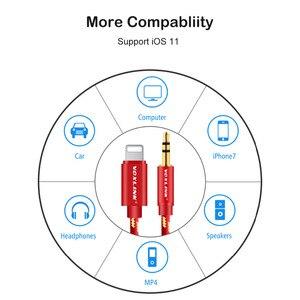 Image 5 - Voxlink aux cabo do carro para iphone x xs xr 8 7 plus 1 m/3ft 8 pinos para 3.5mm macho jack cabo de áudio para iphone 7 6 alto falante fone de ouvido