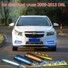 цена на car for chevrolet cruze 2009-2013 DRL Driving Daytime Running Light fog lamp Relay Daylight styling yellow turn signal