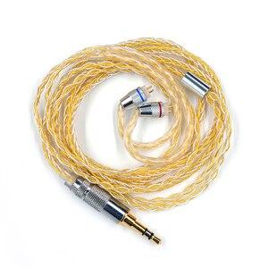 Image 4 - KZ Officiële Oortelefoon Goud Zilver Gemengde Upgrade plated kabel Hoofdtelefoon draad voor KZ Originele ZSN ZS10 Pro AS10 AS16 ZST ES4 ZSN