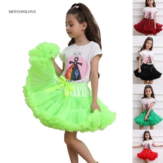 פרח בנות שמלות תחתוניות תחתונית קוספליי מפלגה קצרה שמלה לוליטה תחתונית בלט טוטו חצאית רוקבילי ילדים קרינולינה