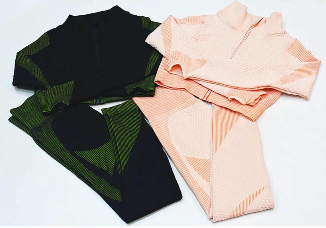 3 stück Set Nahtlose Sport Set Frauen Lauf Gym Kleidung Trainingsanzug Sportswear Crop Top Yoga Hose Training Gesetzt Fitness Kleidung