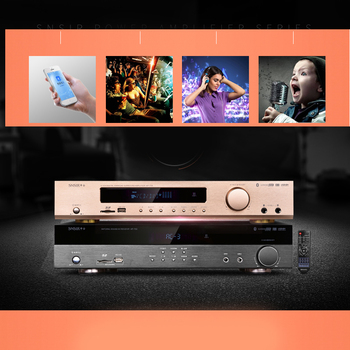 KYYSLB  700W AP-702/8 4.0 Bluetooth Amplifier 220V 550W Home Theater Digital Amplifier TV Card APE Dolby 5.1Channel with SDUSB